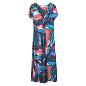 Soft Surroundings watercress maxi dress